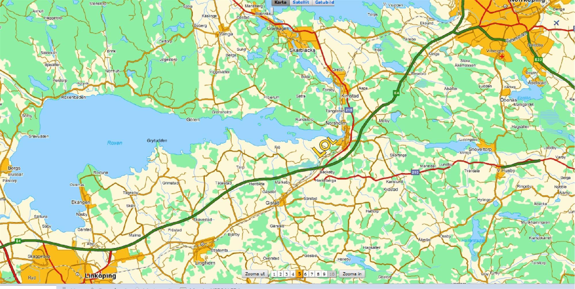 flygplats norrköping karta